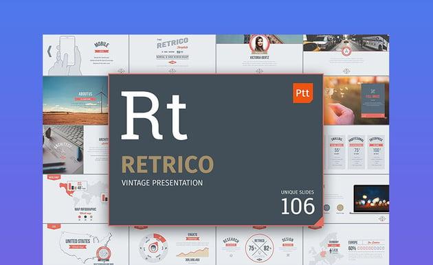 Retrico Vintage PowerPoint Theme