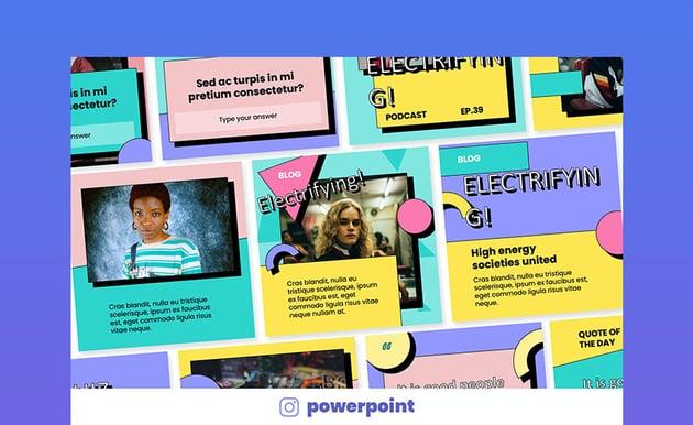 Vibrant 90s Retro PowerPoint Theme