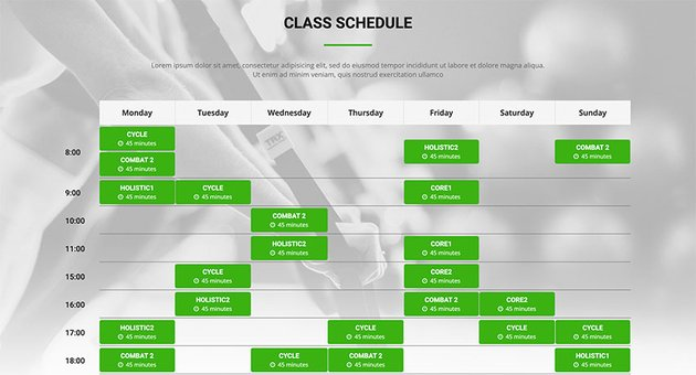 Athetics CrossFit WordPress Template With Class Schedule