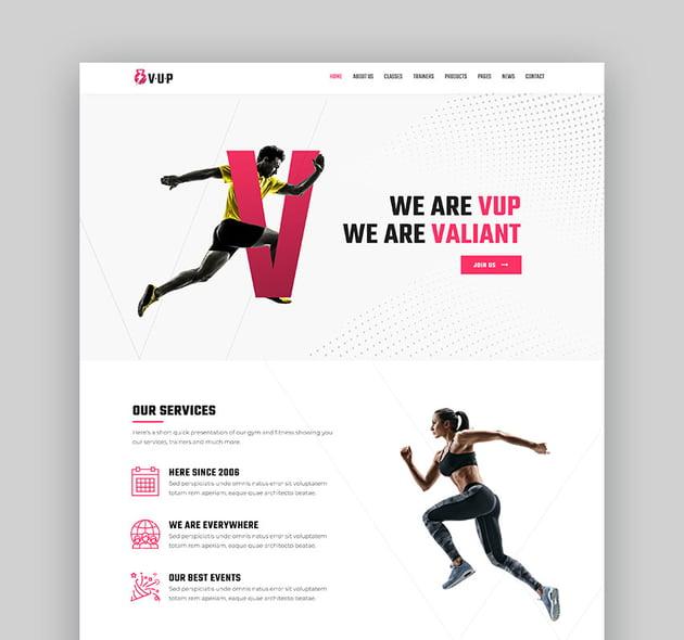 VUP Fitness WordPress Theme
