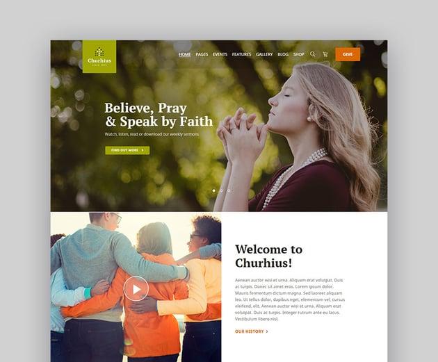 Churhius WordPress Church Template