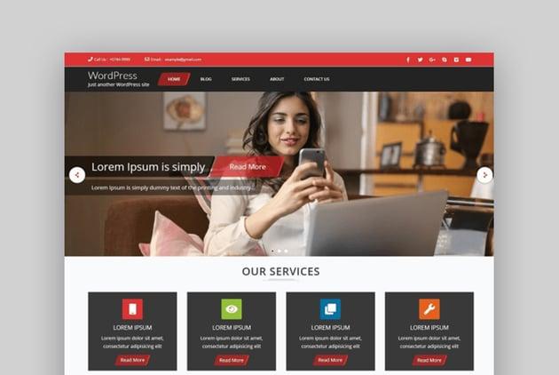 Frontech Software Company WordPress Theme Free Download