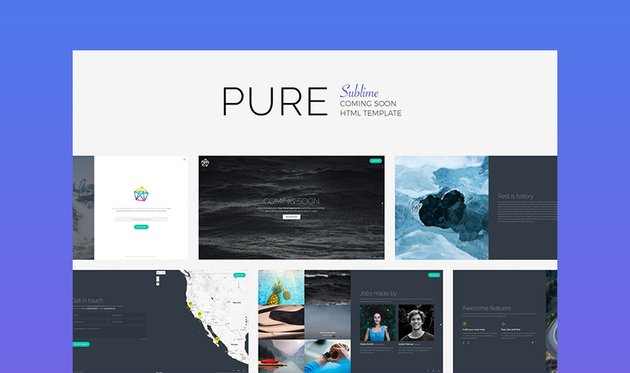Pure Landing Page Template