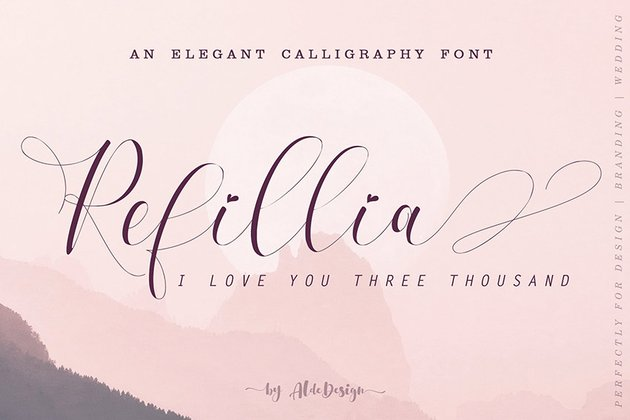 Refillia Calligraphy Script Font Download