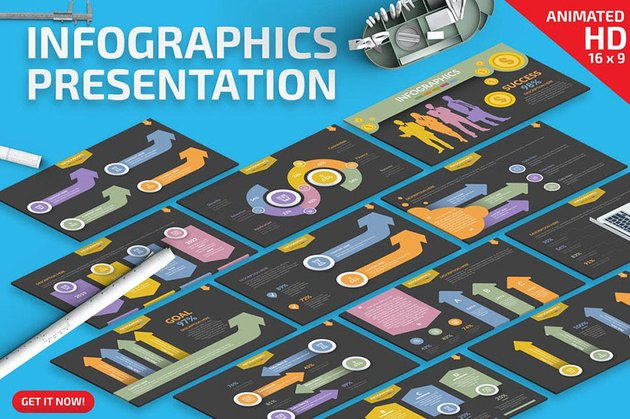 Fully Animated Infographic Template PPT