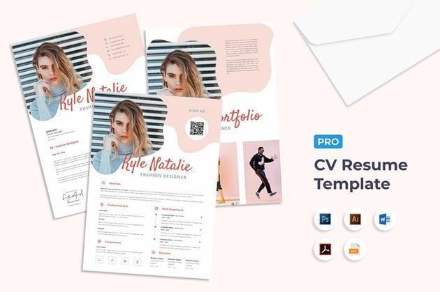 Format CV Word With Social Media