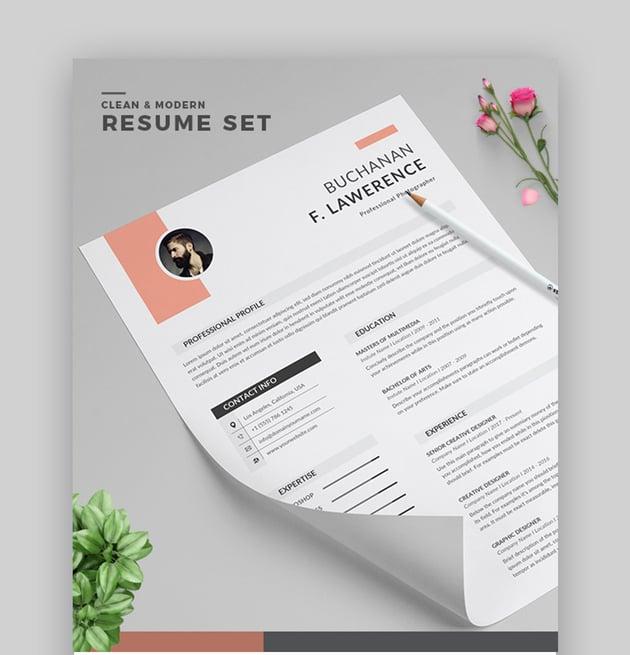 Modern CV Template Word