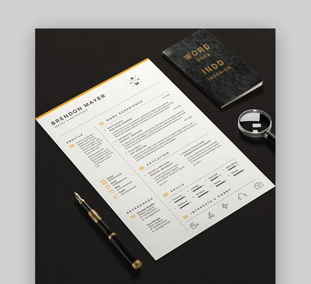 Simple Resume Format CV Word