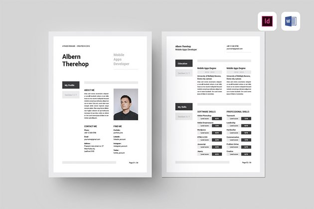 Best CV Template Word Download For Soft Skills
