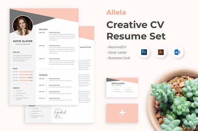Download Template CV Word With Colors