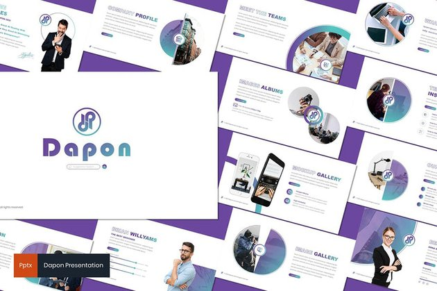 Dapon Template PPT Simple With Gradient