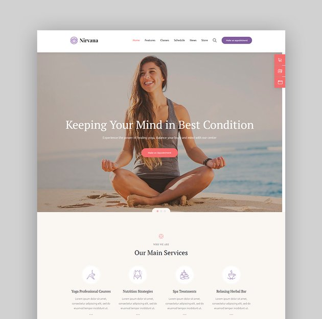 Nirvana Fitness WordPress Theme