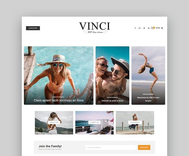 Vinci Low Cost WordPress Themes