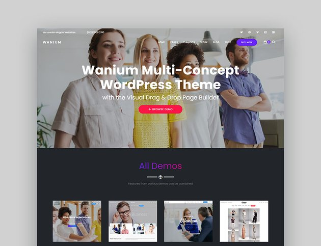 Wanium Affordable WordPress Themes