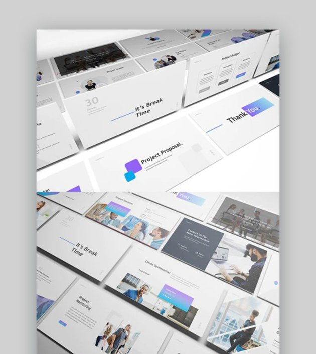 Project Proposal Presentation PowerPoint Template