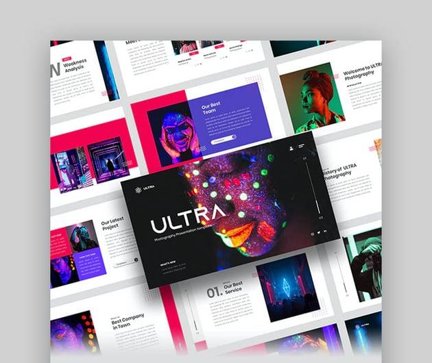 Ultra - Photography Portfolio PowerPoint Template