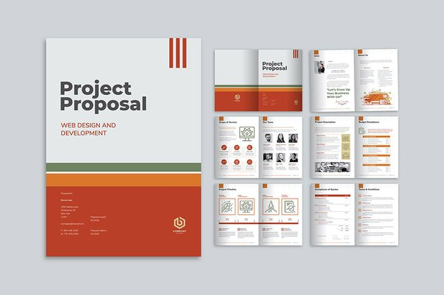 Project Proposal Template InDesign