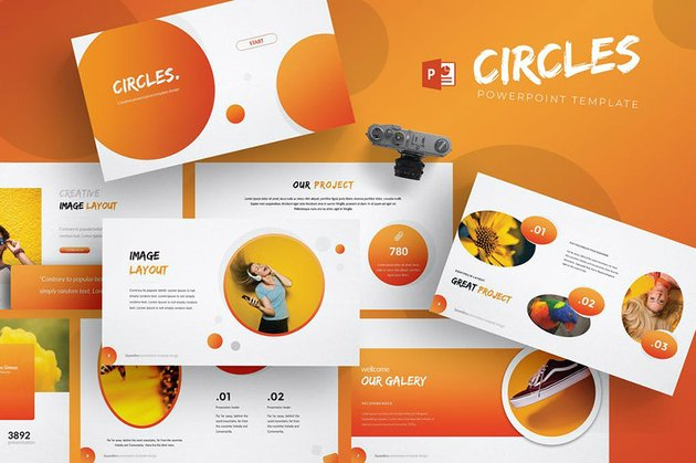 Circles PowerPoint Template Microsoft
