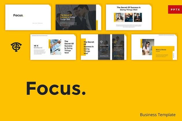 Focus Microsoft PowerPoint Theme
