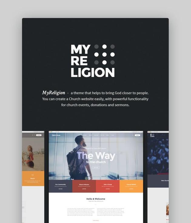 My Religion Church And Charity WordPress Theme
