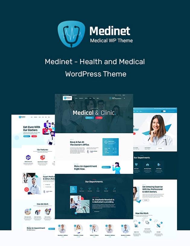 Medinet Medical Doctor Office Website Template