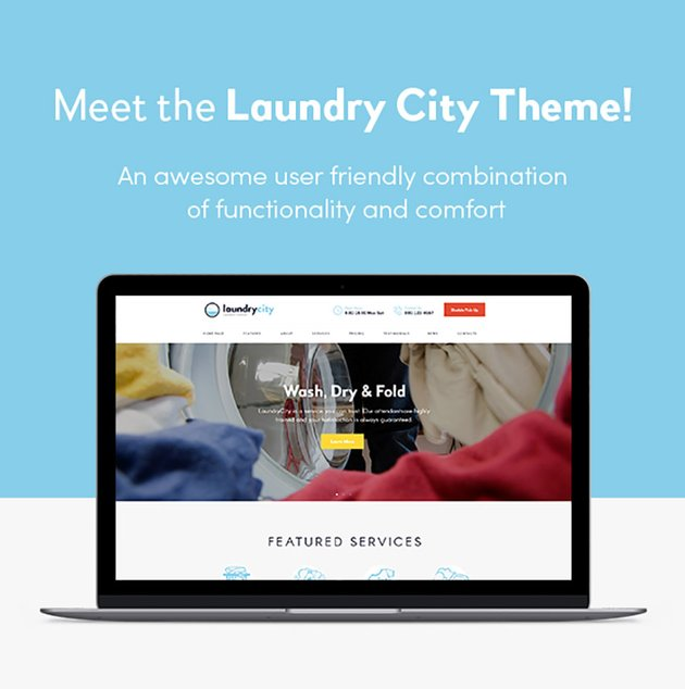 Laundry City Laundry Dry Cleaning Services WordPress Theme
