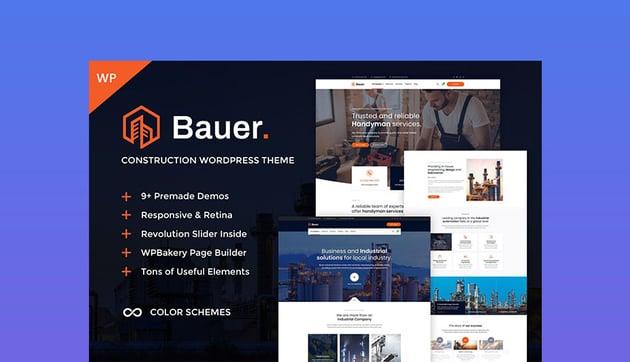 Bauer Construction Company WP Theme