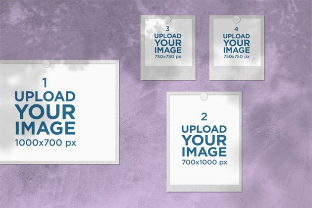 Polaroid PNG Layout Template for Mood Board