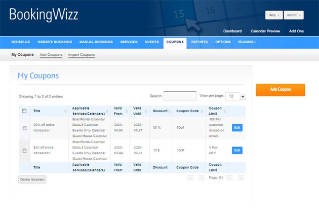 BookingWizz PHP HTML Calendar Booking System