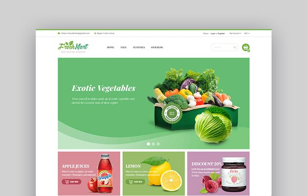 FreshMart Online Grocery Shop Template