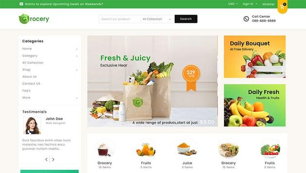 Mega Shop Shopify Grocery Store Theme