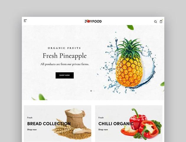 JoyFood - Grocery Supermarket Organic FoodFruitVegetables eCommerce Shopify Theme