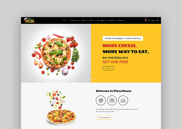 Marios Online Food Store Template