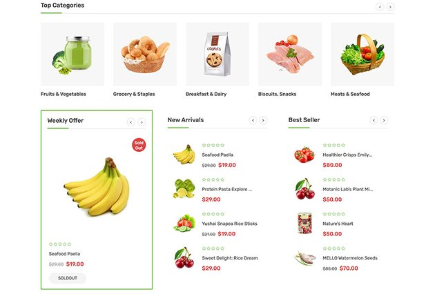 Mega Store Online Grocery Shop Template