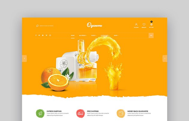 Oganova Food Store Shopify Theme