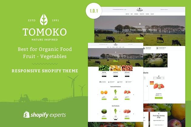 Tomoko Shopify Organic Store Template