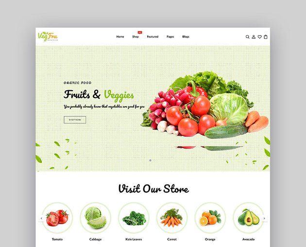Vegfru Vegetable and Fruits Website eCommerce Template
