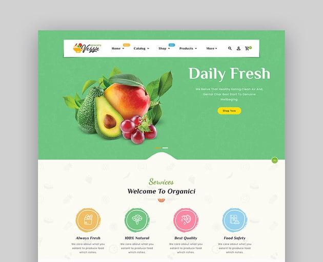 Veggie - Shopify Multi-Purpose Responsive Vegetable eCommerce Website Theme
