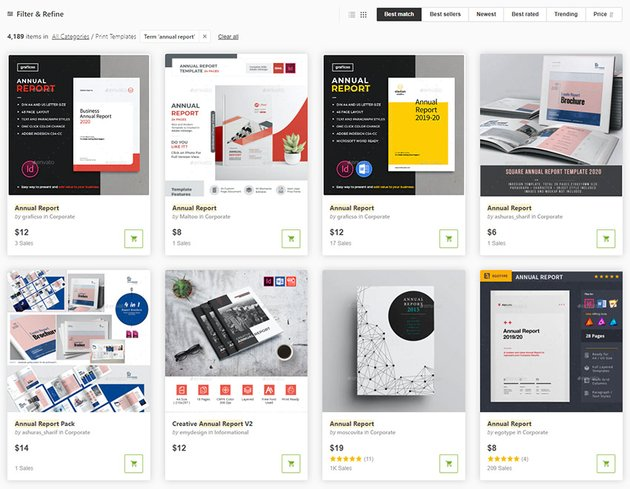 Annual Report Themes From GraphicRiver
