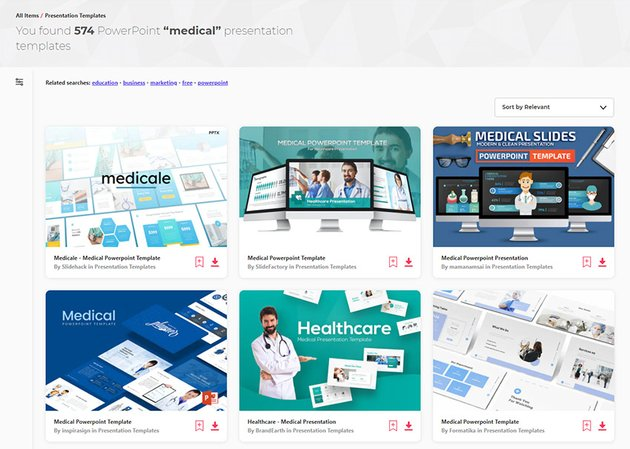 Healthcare PowerPoint Templates from Envato Elements
