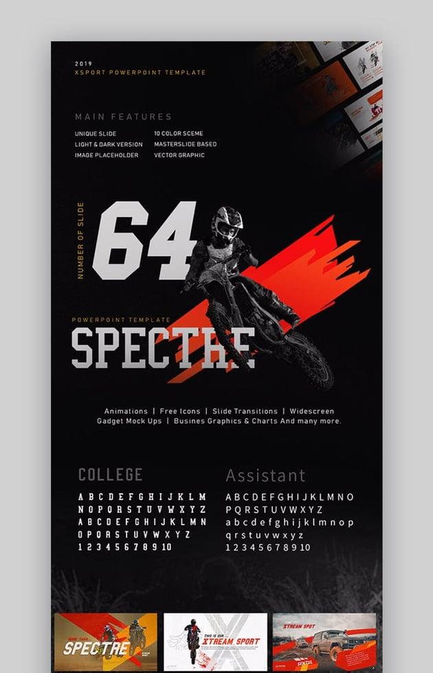 Spectre Xtreme Sports PowerPoint Presentation