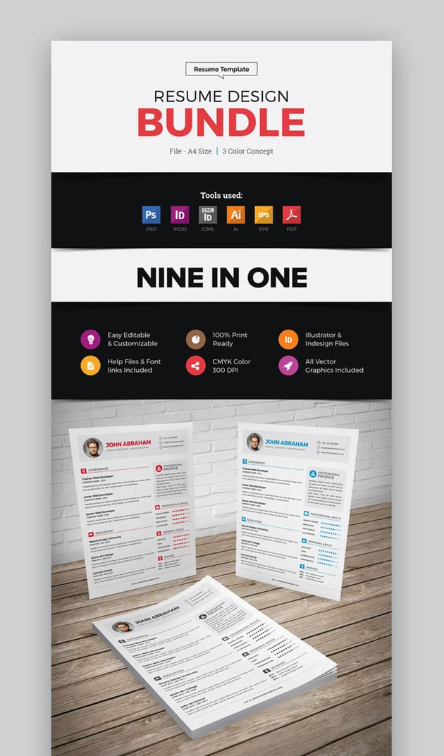 Innovative Really Cool Resumes and CVs Bundle