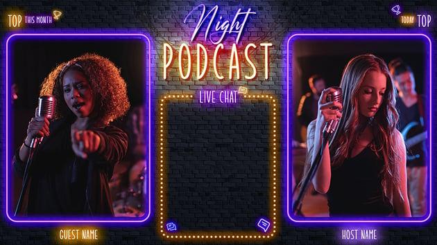 Night Podcast Custom Stream Overlay Download