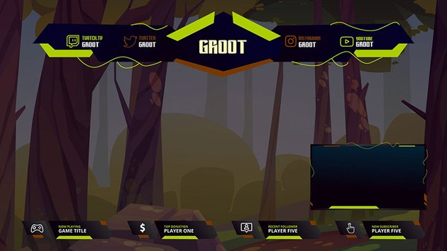 Tree Overlay Twitch Stream Borders Download