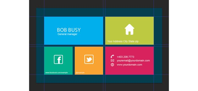 Grid-based Business Card Template