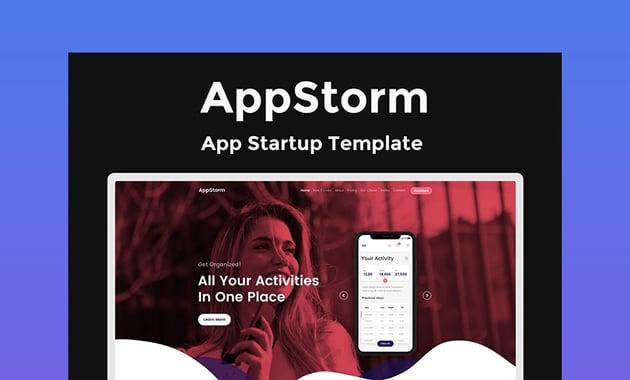 AppStorm App Startup Web Design Template