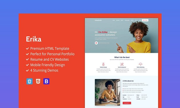 Erika HTML Web Design Template