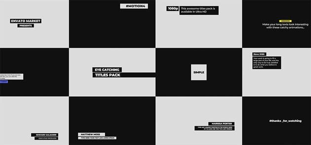 Catchy Ttitles DaVinci Resolve Template Download