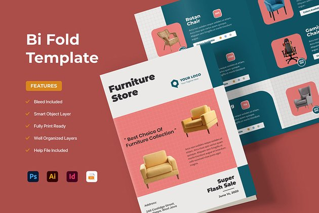 Bifold Product Brochure Template Download