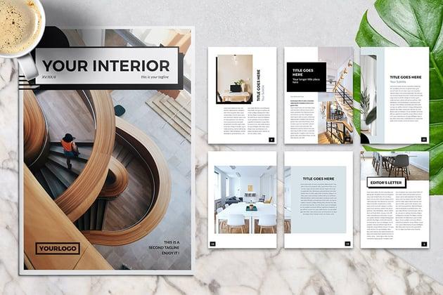 Interior Design Multipurpose InDesign Brochure Template Download